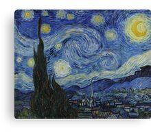 The Starry Night - Vincent van Gogh - 1889 Canvas Print
