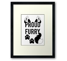 PROUD FURRY  -clear tips- Framed Print