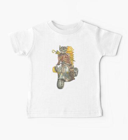 Moto Cat Baby Tee