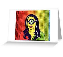 ONE EYE POP ART Greeting Card