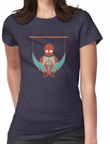 Booklover Octopus Womens Fitted T-Shirt