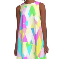 Geometric spikes in pastels A-Line Dress