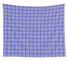 Knitted Snowflake Blue Wall Tapestry
