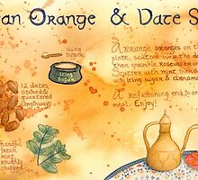 Illustrated Moroccan Orange Salad Recipe by kimfleming