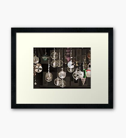 Glass Baubles  Framed Print