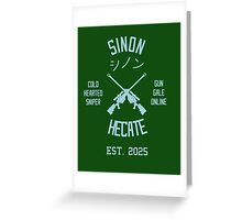 Sinon Hecate (Blue) Greeting Card