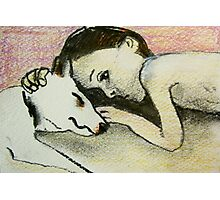 girl and pup Photographic Print