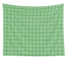 Knitted Snowflake Green Wall Tapestry