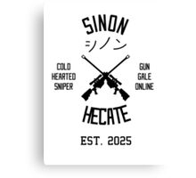Sinon Hecate (Black) Canvas Print