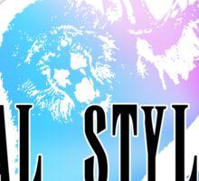 Animal Style Fantasy (White) Sticker