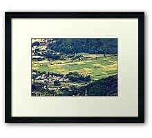 Rural Japan Rice Fields Forest Countryside Village Framed Print