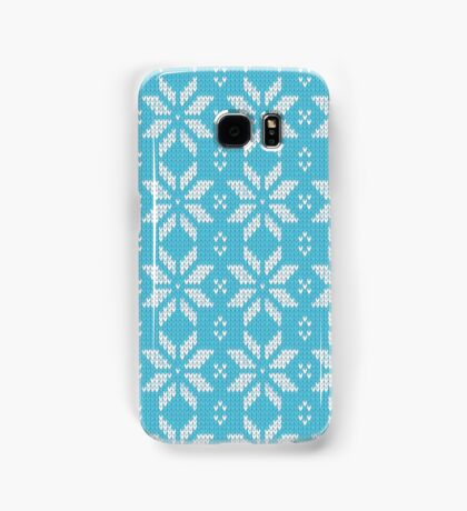 Knitted Snowflake Light Blue Samsung Galaxy Case/Skin