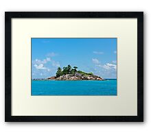 Island in the Indian ocean Framed Print