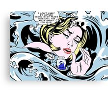 Drowning Alice Canvas Print