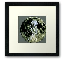 Walking on the moon. Framed Print