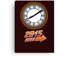 Back to the Future Clock 2015 Canvas Print