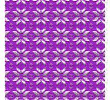 Knitted Snowflake Purple Photographic Print