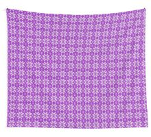Knitted Snowflake Purple Wall Tapestry