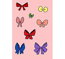 Ribbon Bows Sticker Sheet Photographic Print