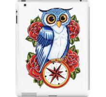Owl Compass Rose tattoo design iPad Case/Skin