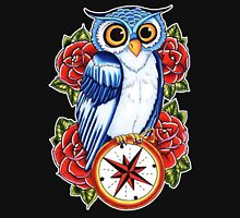 Owl Compass Rose tattoo design Unisex T-Shirt