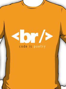code is poetry T-Shirt