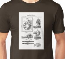 Retro Vintage Record Player Patent Drawing Diagram Unisex T-Shirt