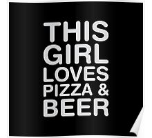 Love Pizza & Beer Poster