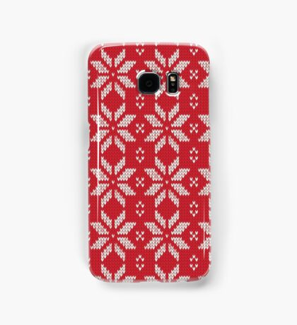 Knitted Snowflake Red Samsung Galaxy Case/Skin