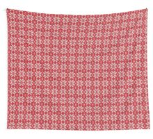 Knitted Snowflake Red Wall Tapestry