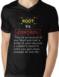 Root Vs Control Mens V-Neck T-Shirt