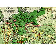 Old commercial map of Europe 1865 - 1907 Photographic Print