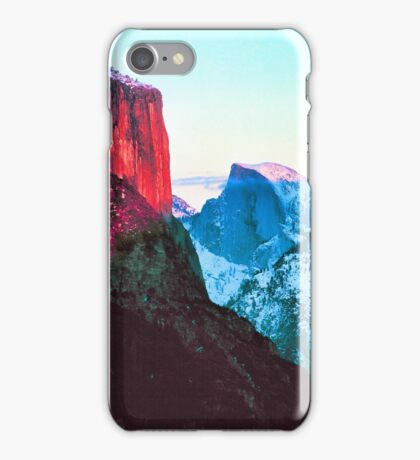 EL CAPITAN AND HALF DOME,SUNSET iPhone Case/Skin