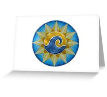 Mandala : Surf & Sun Greeting Card