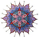 Mandala : Red Heart Passion by danita clark