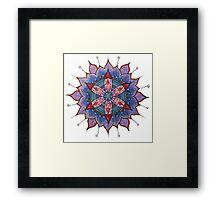 Mandala : Red Heart Passion Framed Print