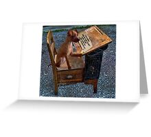 AS I WRITE MY THOUGHTS I WONDER WHY THEY..?? CANINE,DOG,chihuahua >>PICTURE.. Greeting Card