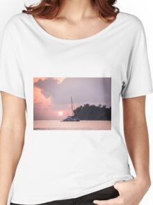 Recreational Yacht at the Indian Ocean Women's Relaxed Fit T-Shirt