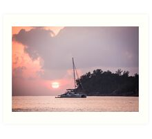 Recreational Yacht at the Indian Ocean Art Print