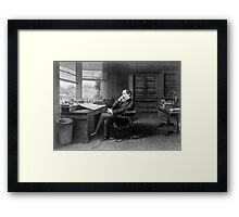 Portrait of Charles Dickens in His Study Framed Print