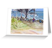 Artists by the Sea, Flying Fish Point  Greeting Card