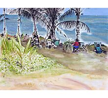 Artists by the Sea, Flying Fish Point  Photographic Print