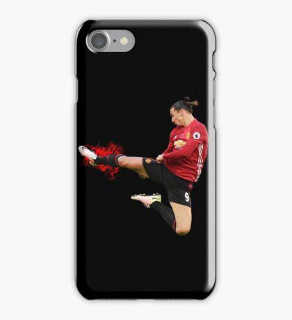 Zlatan Ibrahimovic flying ninja kick iPhone Case/Skin