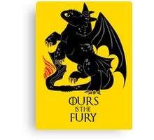 Ours is the night fury Canvas Print