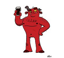 Stout Beer Monster Photographic Print