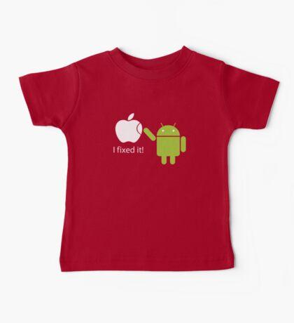 I Fixed It! Robot Phone Mobile  Baby Tee