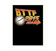 Back to the Future 2015 Logo with Clock Art Print
