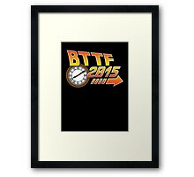 Back to the Future 2015 Logo with Clock Framed Print