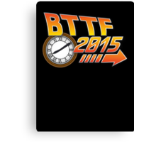 Back to the Future 2015 Logo with Clock Canvas Print