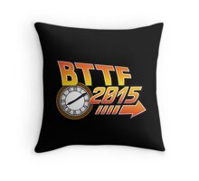 Back to the Future 2015 Logo with Clock Throw Pillow